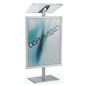 Silver Economy Lectern with Poster Frame and Snap Open Insert