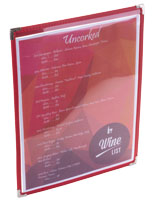 "Red 8.5"" x 11"" Single Panel Wine List Cover"