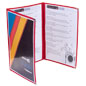 "Red 8.5"" x 14"" (3) Panel Clear Menu Covers"