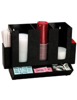 cup and lid holder organizer for coffee and breakroom stations