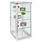 Aluminum Countertop Display Case with 3 Shelves