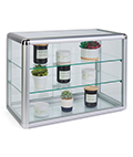 Tempered Glass Countertop Showcase Ships Fully Assembled