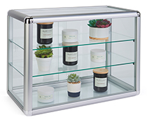 Assembled Tempered Glass Countertop Showcase