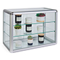 Tempered Glass Countertop Showcase with Key Lock