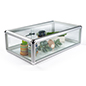 Aluminum Countertop Showcase with Tempered Glass Top