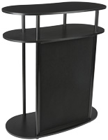 Hook and Loop Exhibit Podium, Holds Accessories