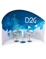 Trade Show Furniture and Graphics Set, Dye-Sub Printing