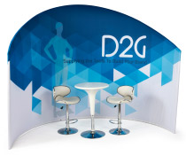 Trade Show Furniture and Graphics Set for Meetings & Events