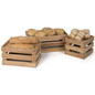 Three Wooden Produce Boxes