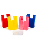 Countertop colored acrylic flyer holders