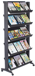 5 Tier Angled Comic Book Rack
