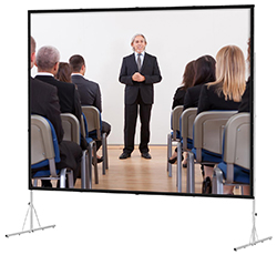 commercial projection screen with stand