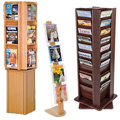 Commercial Wood Magazine Racks