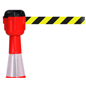 Cone-Mounted Retractable Belt Barrier for Restricted Access