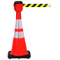 "28"" Traffic Cone with 30' Barrier Belt"