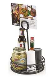 Condiment Organizers with Sign Clip