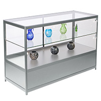 Glass countertop showcases