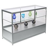 Glass countertop showcases