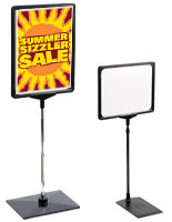 sign stands with plastic frames