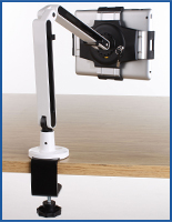 countertop iPad mounts with clamp on base