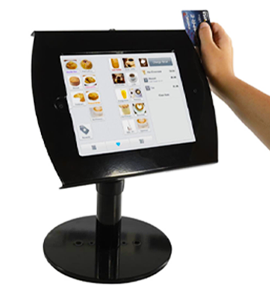 pos displays with credit card reader