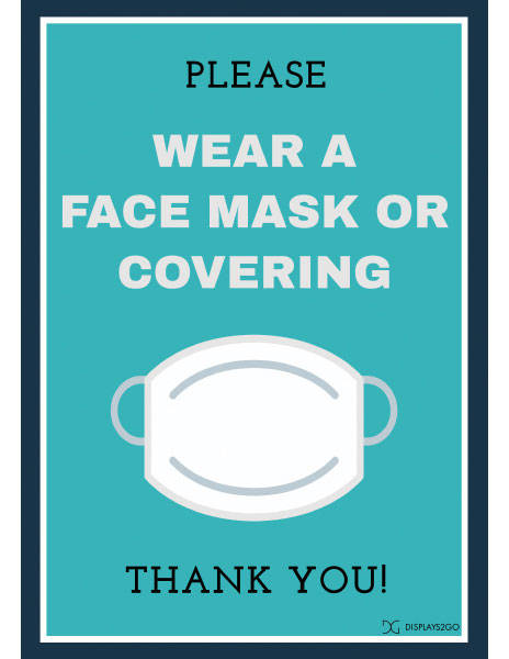 Please wear face covering printable sign