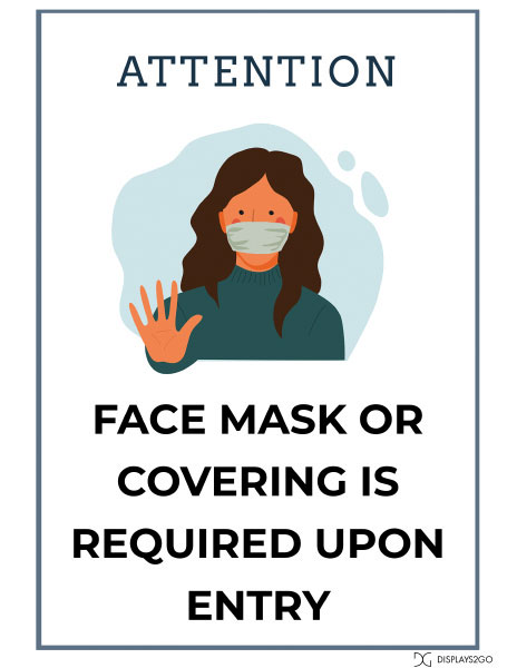 Face mask required printable sign