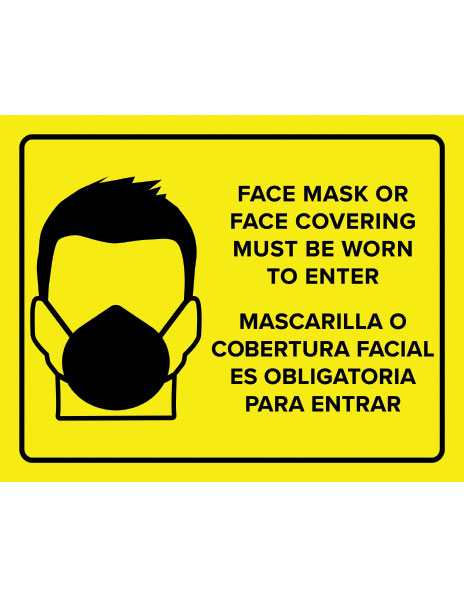 Face mask must be worn printable sign