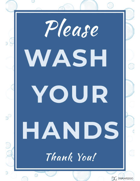 Please wash your hands printable sign