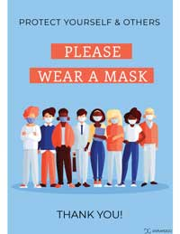 Please wear a mask printable sign