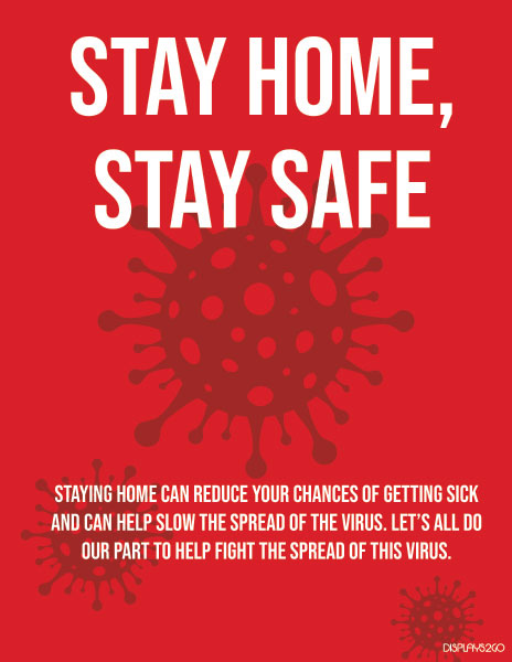 Stay home stay safe printable sign