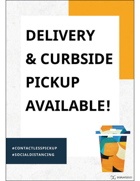 Delivery and curbside pickup printable sign