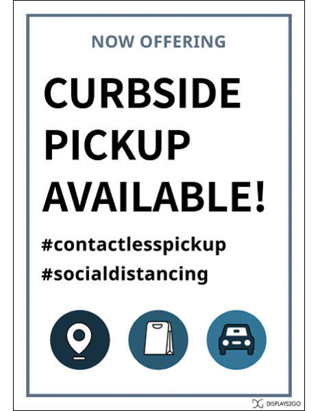 Curbside pickup available printable sign
