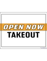 Open now takeout printable sign