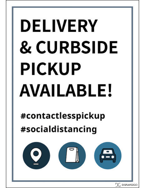 Delivery curbside printable sign