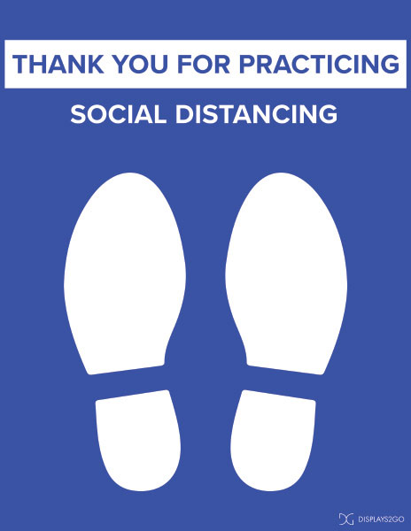 Thank you for social distancing printable sign