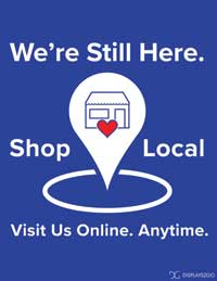 Shop local printable sign
