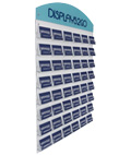 Business Card Wall Mount with Custom Header for Trade Shows