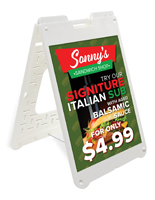 Sandwich Board with Custom Signs, Double Sided