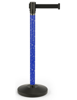 Holiday printed stanchion with black belt