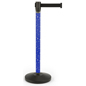 Holiday printed stanchion with stock artwork