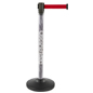 Custom Stanchion Post with Red Belt and Retractable Band