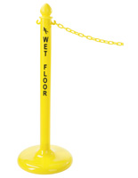 Plastic Wet Floor Safety Stanchion Sold as Complete Kit