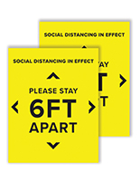 6 feet social distancing posters with 22 inch by 28 inch dimensions