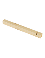 Natural wood slatwall peg dowels