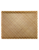 Wall mounted designer wood lattice slatwall display