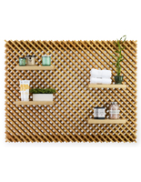Natural Large Retail Lattice Slatwall Panel Wall Set