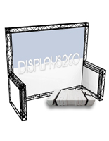 10 x 10 Trade Show Truss Display with Knockdown Design