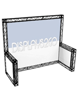 10 x 10 Truss Trade Show Booth, 10' Wide