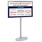 Digital signage with stand includes four cable management clips and 49 inch tv